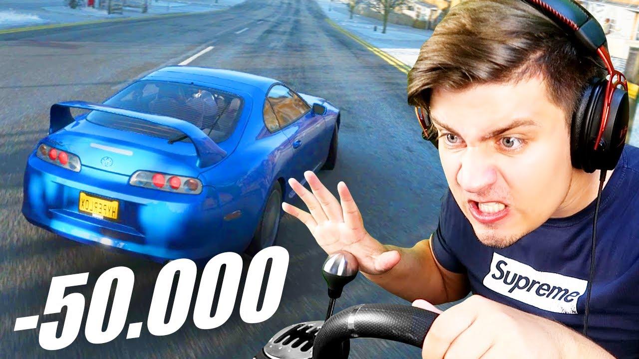 СЛОМАЛ РУЛЬ ЗА 50.000 РУБЛЕЙ?! - ДИКИЙ ДРИФТ НА BMW M4! (Forza Horizon 4)