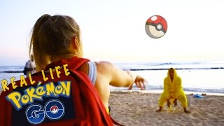 pokemon go real life funny ninja moves by pikachu messing around in waikiki hawaii