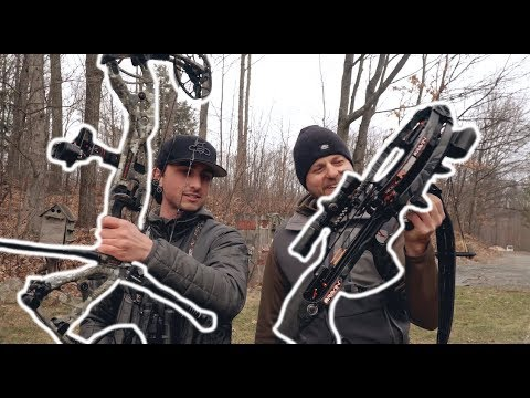 Hoyt RX3 VS. Crossbow 100 Yard Challenge