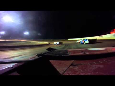 heat race 3 21 15 me driving the red 8 car Boyds speedway