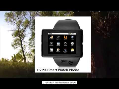 7c966f82eb72 SVP Smartwatch Android 2.2 Phone Bluetooth GPS - Z1 Black - YouTube