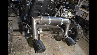 Homemade STRAIGHT PIPE DUAL EXHAUST For GO KART?