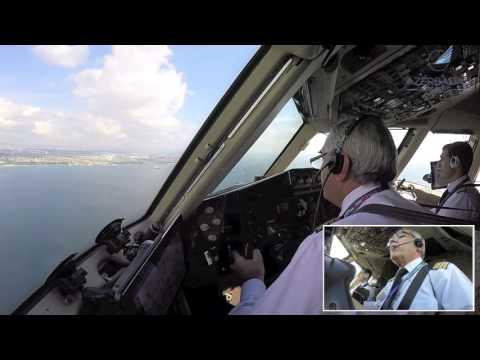 AZAL B767 Landing Istanbul, Captain Otello going strong! [AirClips]