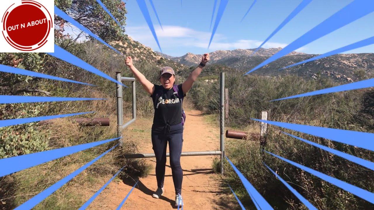 Hiking at Espinosa Trail, Pine Creek Wilderness, San Diego ...
