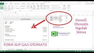 Cara Membuat Slip Gaji Otomatis Di Excel