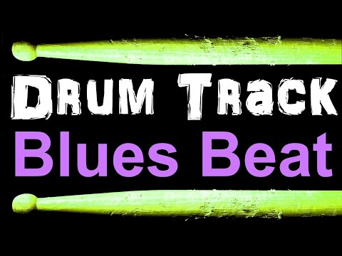 Slow Blues Drum Beat 65BPM Bass Guitar Practice Track Free MP3 Drum Loops