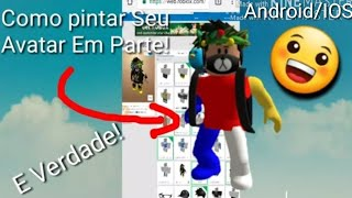 How to paint every part of the character on Roblox's Android cell phone (very easy)