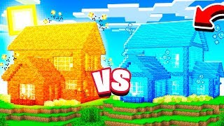 LAVA HOUSE VS WATER HOUSE IN MINECRAFT!