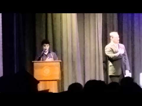 Zach Smith leading Sapulpa High School in Songs 20