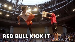 One-on-One Tricking Battle - Red Bull Kick It 2014(Red Bull 'Kick It' 2014 was held at National Theatre in Seoul Korea hosting the top 16 players competing in search to find the world's best kicker. Red Bull