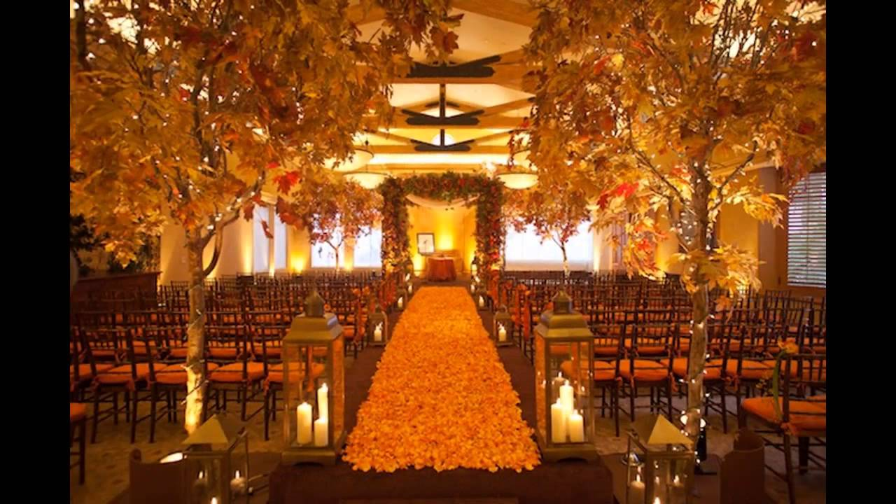 Cheap fall wedding decorating ideas youtube junglespirit Images