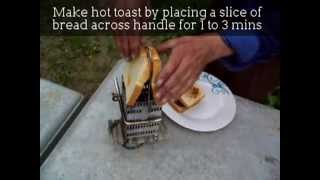 Cooking Warm hot Meals using the Oregon Lamp Stove on the trail