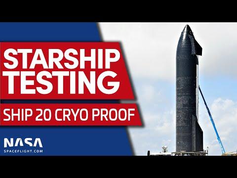 LIVE:  Starship Cryogenic Proof Test of Ship 20