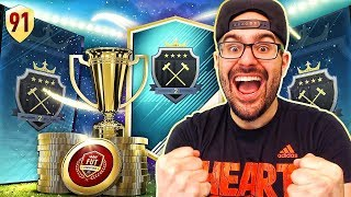 OMG INSANE WALKOUT IN MY ELITE REWARDS! FIFA 18 Ultimate Team Road To Fut Champions #91 RTG