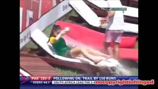 Prank on Hot Girl on live TV in Cricket Ground nocopyrightinfringed