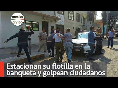 Estacionan su flotilla en la banqueta y golpean ciudadanos | Poder Anti Gandalla