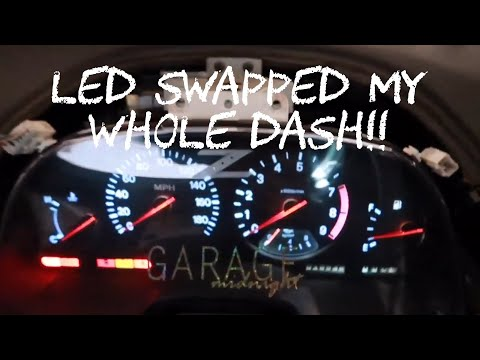 Replacing Dash, Cluster, Speedo And Pods Bulbs With LEDs. Z32 300zx