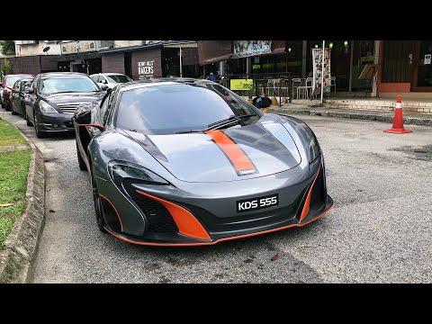 Supercars in Kuala Lumpur, Malaysia - Abandoned LAMBO? McLaren 650S & more..