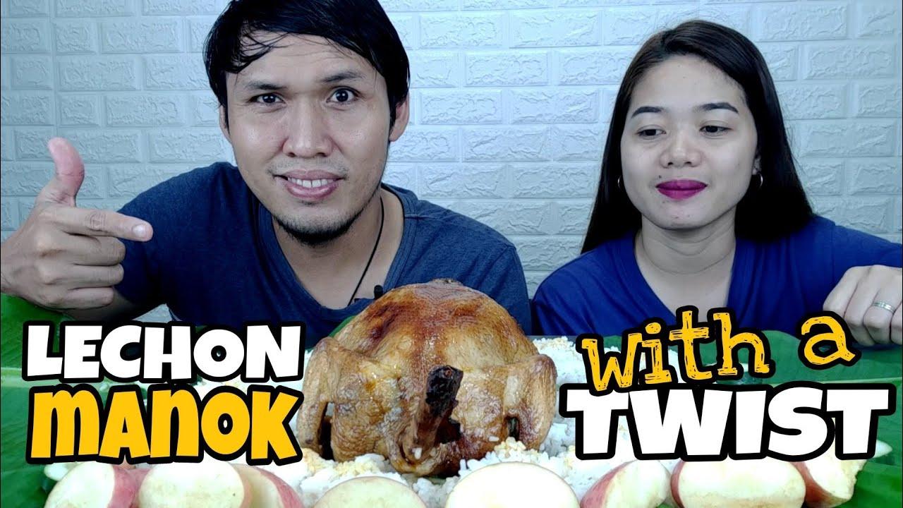 LECHON MANOK WITH A TWIST | FILIPINO FOOD MUKBANG | COLLAB WITH @Dishkarte