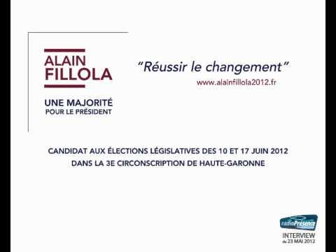 Alain Fillola, interview Radio Presence, législatives 2012