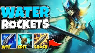 WTF?! NAMI AUTOS ARE LEGIT PIERCING WITH FULL CRIT BUILD (WATER ROCKETS) - League of Legends