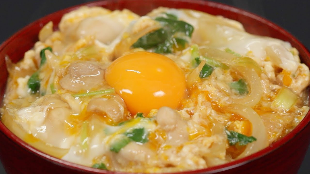 Oyakodon recipe chicken and egg bowl cooking with dog youtube forumfinder Images