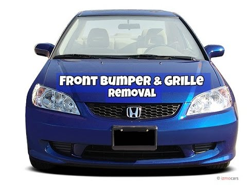 removing front bumper and grille - 2004 honda civic es1/es2/ep3