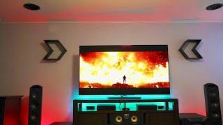 Cinema Quality Dolby Atmos 4K OLED Home Theater Setup Tour