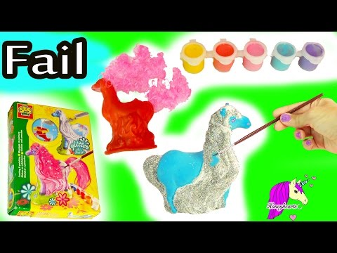 Big Fail - Make Your Own Mold + Paint Fantasy Horses Glitter & Hair Do It Yourself Craft Video