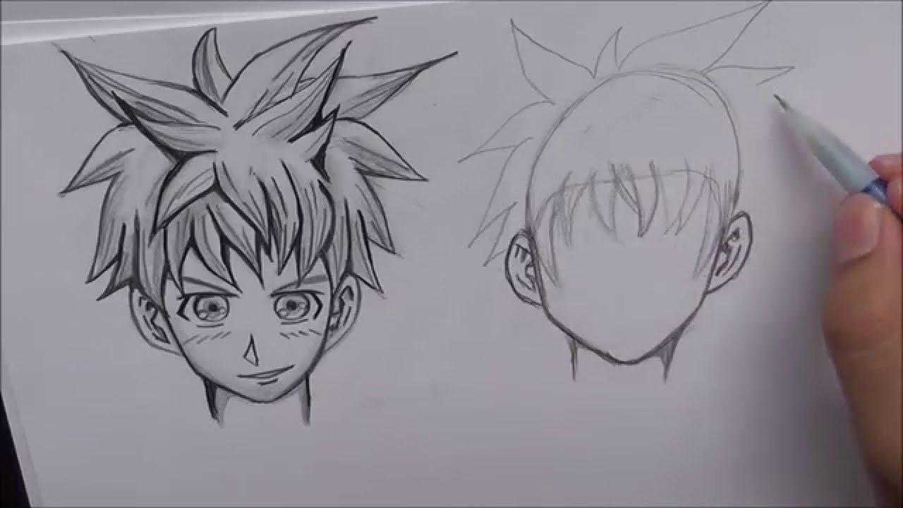 draw manga hair