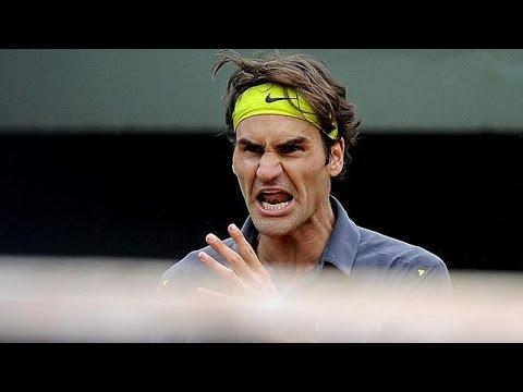 Roger Federer ANGRY