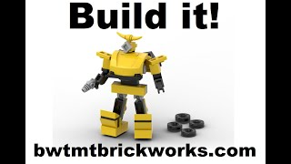 Build Lego Transformers Mini Bumblebee V3 by BWTMT Brickworks - Free instructions Download