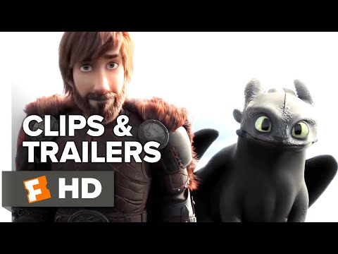 How to Train Your Dragon: The Hidden World ALL Clips + Trailers (2019) | Fandango Family