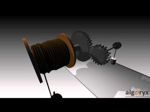 Simulation of a geared cable drum by AgX