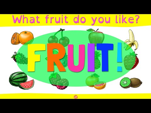 Learn 12 Fruits - What Fruit Do You Like? - Pattern Practice For Kids By ELF Learning