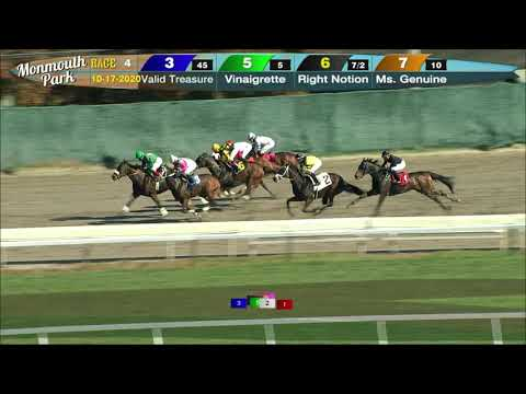 video thumbnail for MONMOUTH PARK 10-17-20 RACE 4