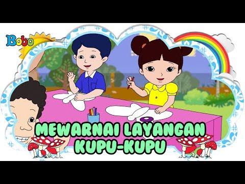 Mewarnai Layangan Kupu Kupu - Bona dan Rongrong - Dongeng Anak Indonesia - Indonesian Fairytales