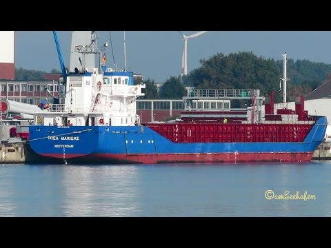 coaster THEA MARIEKE PBDE IMO 9195418 Emden cargo seaship merchant vessel KüMo
