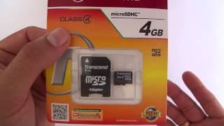 карта памяти Transcend SDHC Class 4 SDHC Class 4 4Gb обзор