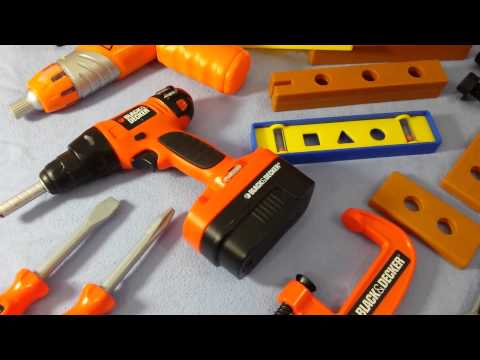Kids Video Compilation Toy Tool Set Black And Decker Bob The Builder Tools