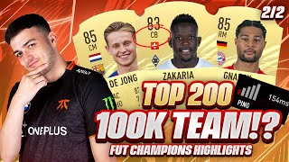 TOP 200 WITH THE BEST 100K TEAM ON FUT CHAMPS WEEKEND LEAGUE!? FIFA 21 SQUAD BUILDER & HIGHLIGHTS!!