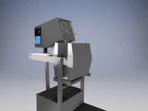 BIO Commercial Cold Press Juicer 3D Animation