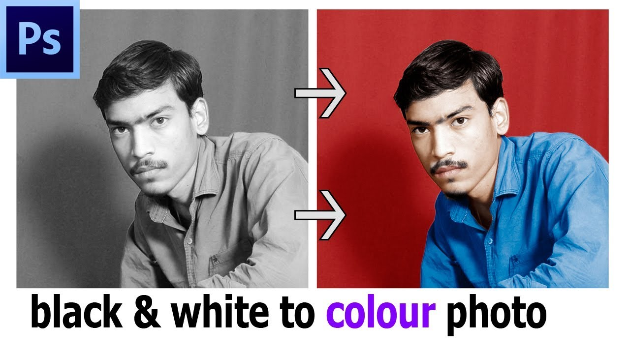 Black and white to color photoshop tutorial change black and white picture to color