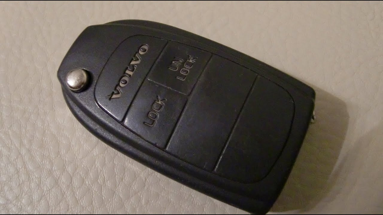 Volvo V40 Schlüssel Fernbedienung Batterie wechseln / replace battery remote radio control key ...