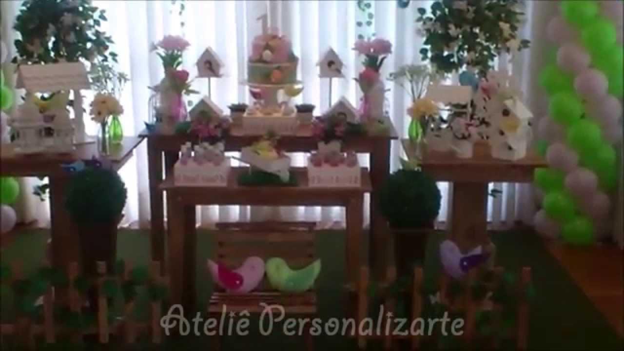 Decoração de festa infantil Passarinhos  Rústico  YouTube