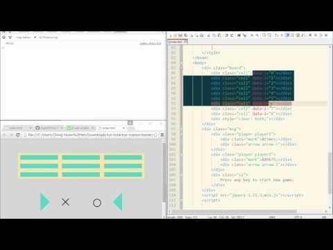超入門 JavaScript 教學 15.1 - 遊戲專題(圈圈叉叉)