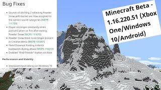 Minecraft Net: 1.16.220.51 Beta Released! Sound Fixes Drowned Weilding Fix Gamecrash Fixes