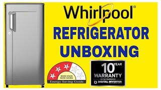 Whirlpool 200 L Single Door 3 Star Refrigerator Unboxing | ( Magnum Steel, 215 IMPWCOOL PRM 3S )