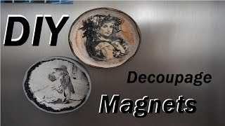 DIY Decoupage Magnets | How to make your own Magnets