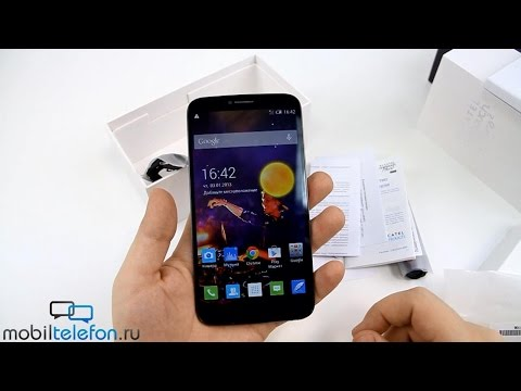 "Распаковка Alcatel OneTouch Hero 2 с 6"" дисплеем (unboxing)"